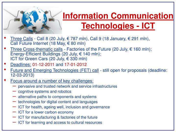 Information Communication Technologies - ICT