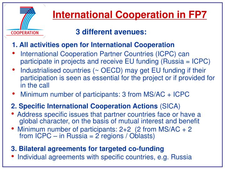 International Cooperation in FP7