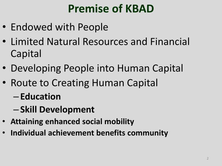 Premise of KBAD