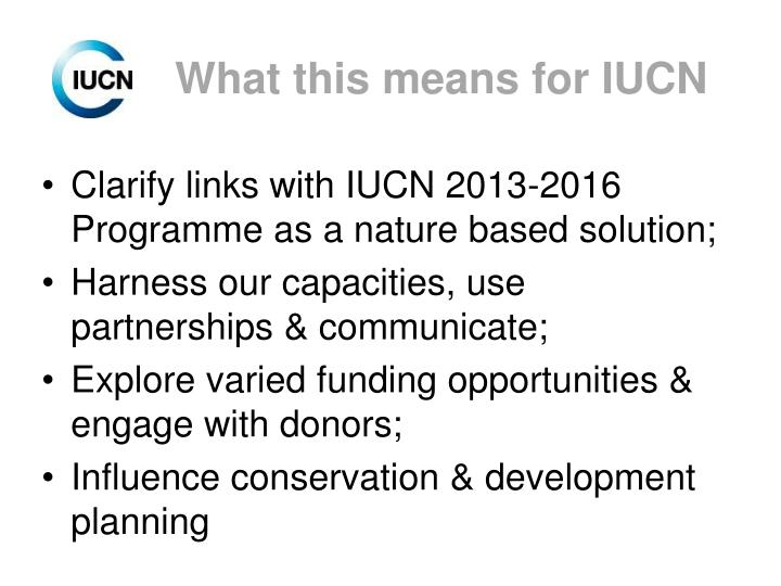What this means for IUCN