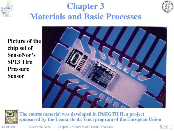 Chapter 3 materials and basic processes