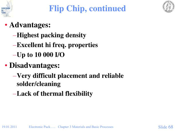 Flip Chip, continued