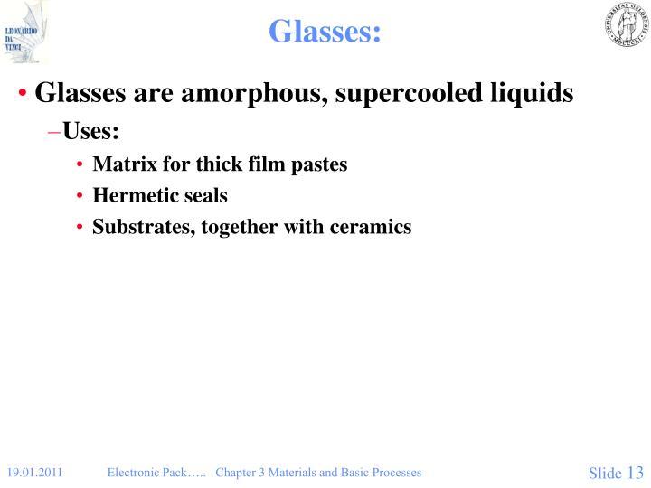 Glasses: