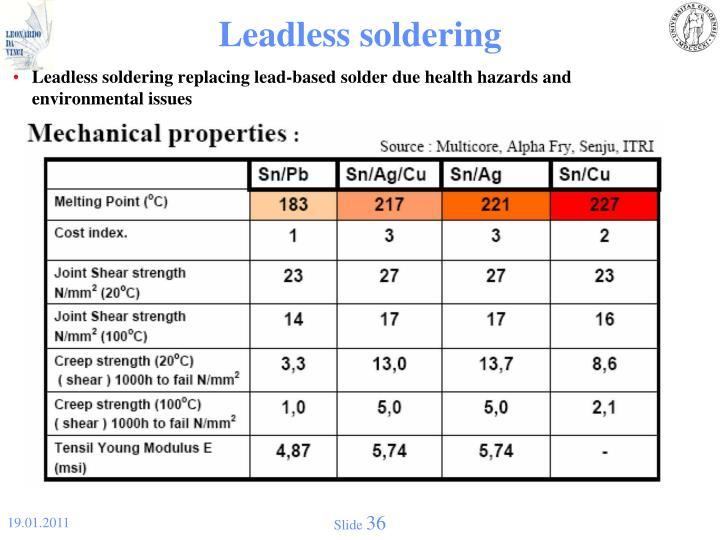 Leadless soldering