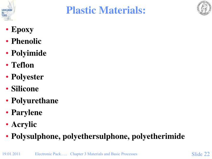 Plastic Materials: