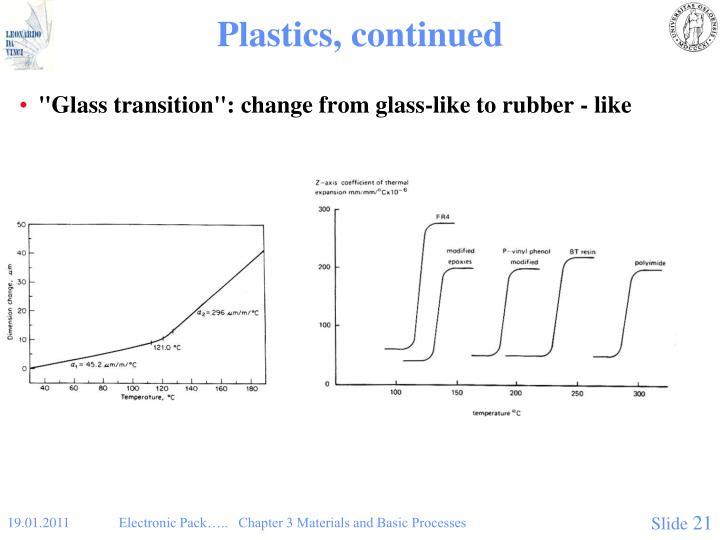 Plastics, continued