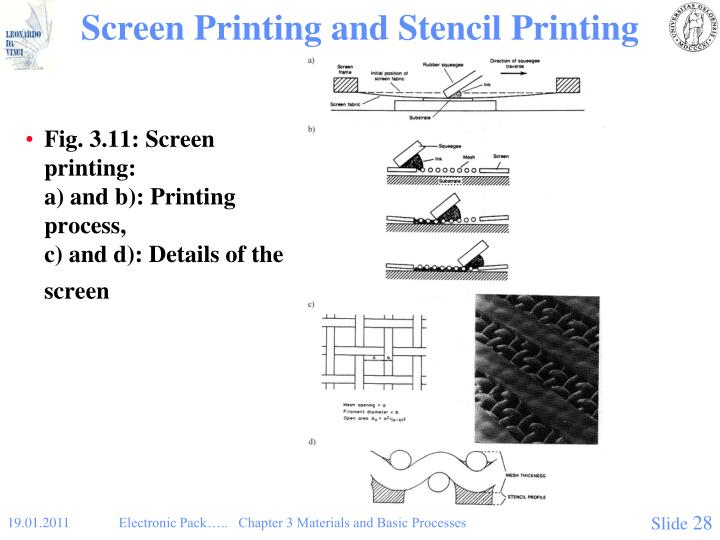 Screen Printing and Stencil Printing