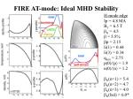 fire at mode ideal mhd stability1