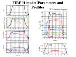 fire h mode parameters and profiles1