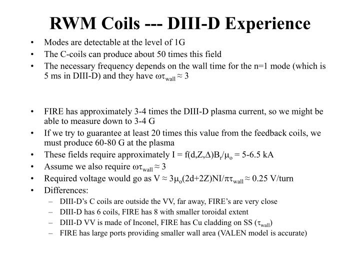 RWM Coils --- DIII-D Experience