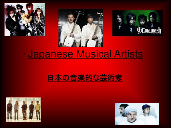 Japanese Musical Artists