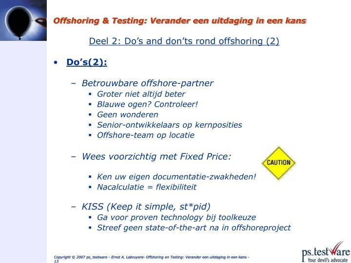Offshoring & Testing: Verander een uitdaging in een kans