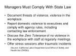 managers must comply with state law
