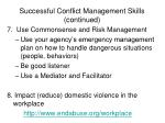 successful conflict management skills continued1