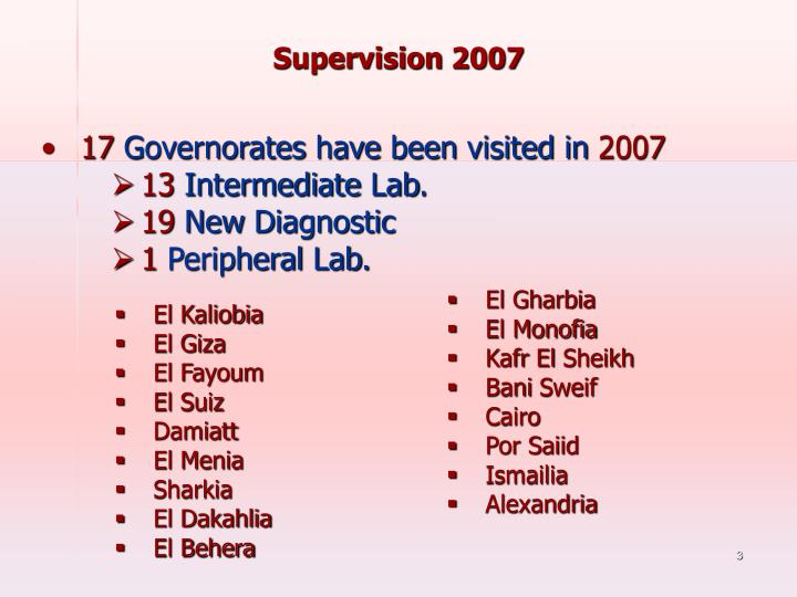 Supervision 2007