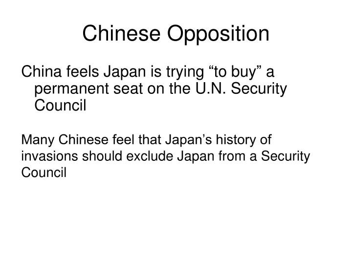 Chinese Opposition