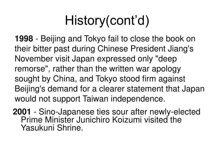 History(cont'd)