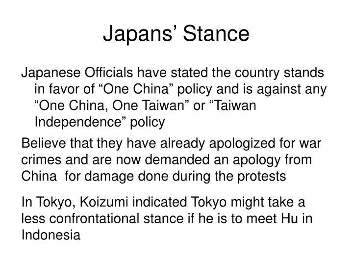 Japans' Stance
