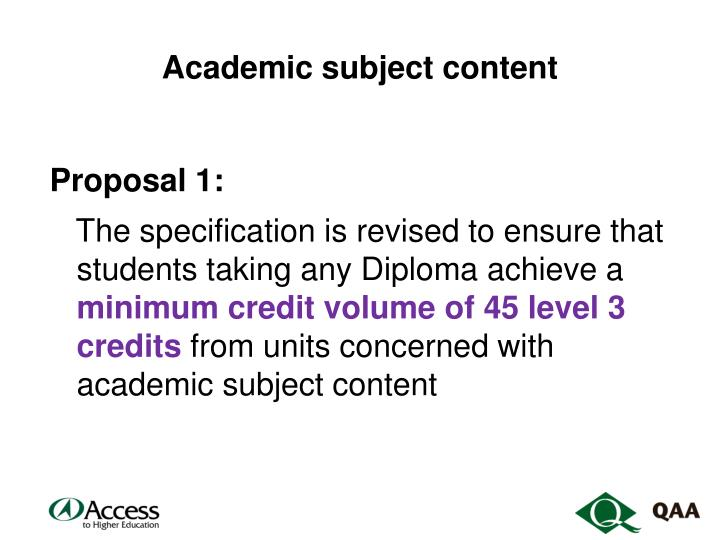 Academic subject content