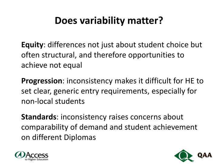 Does variability matter?