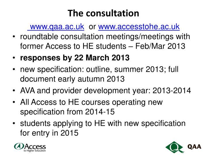 The consultation