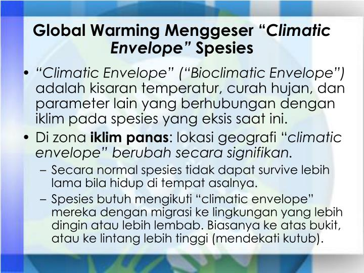Global Warming Menggeser