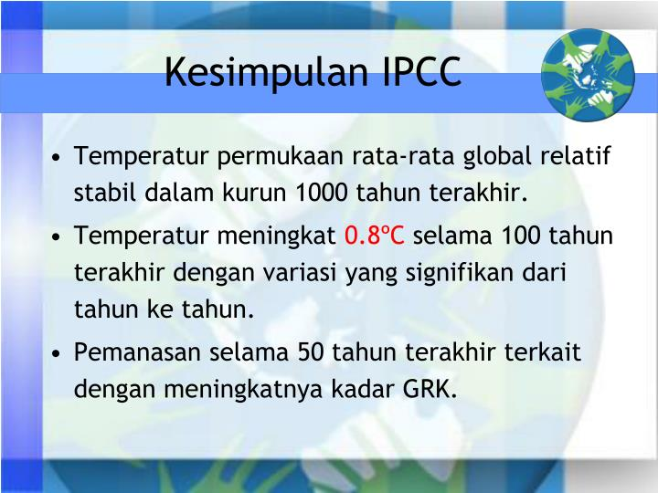 Kesimpulan IPCC
