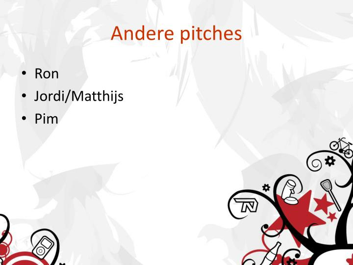 Andere pitches