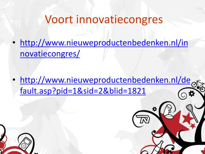 Voort innovatiecongres