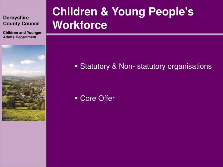 Children & Young People's Workforce