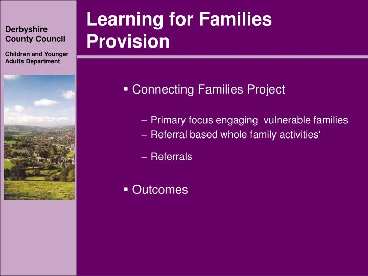 Learning for Families Provision