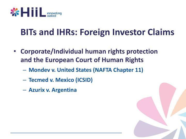 BITs and IHRs: Foreign Investor Claims