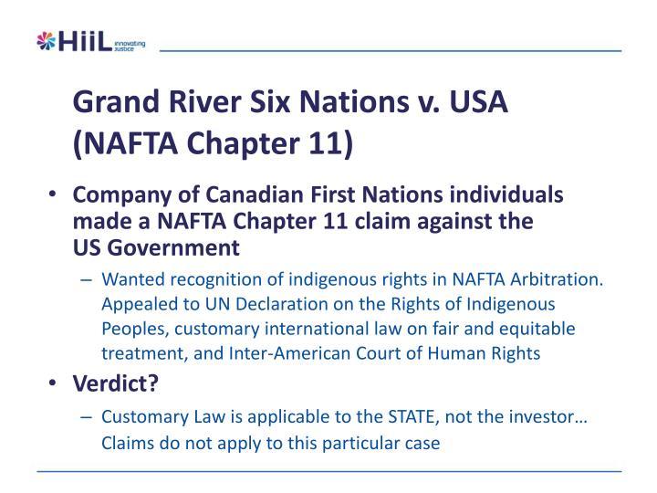 Grand River Six Nations v. USA