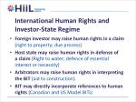 international human rights and investor state regime