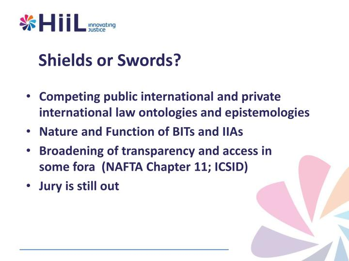 Shields or Swords?