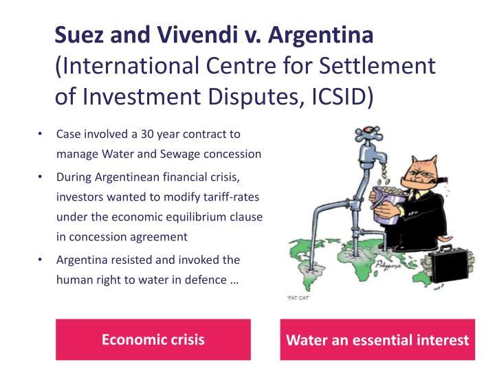Suez and Vivendi v. Argentina