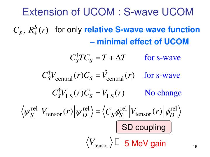 Extension of UCOM : S-wave UCOM
