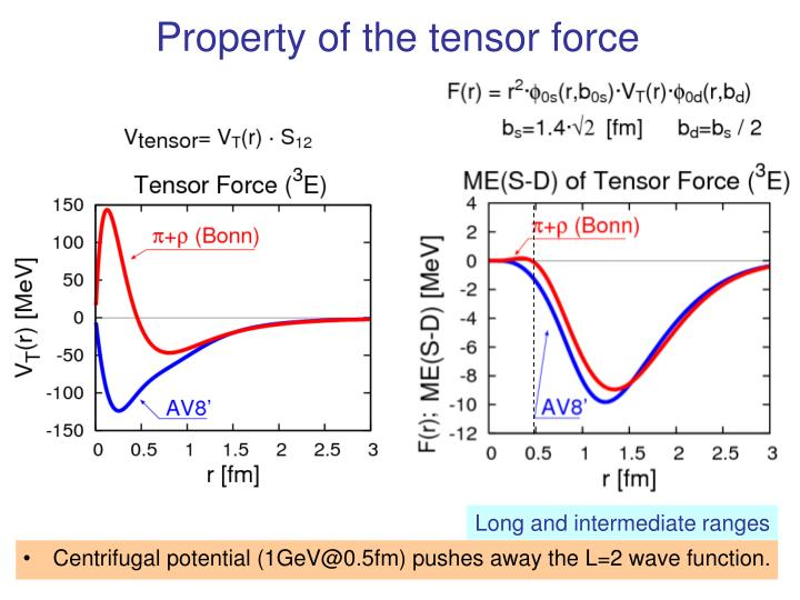 Property of the tensor force