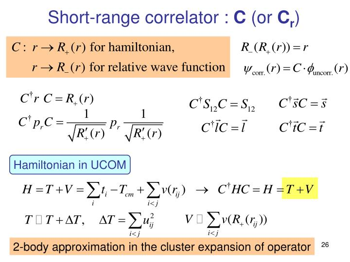Short-range correlator :