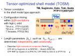 tensor optimized shell model tosm