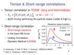 tensor short range correlations