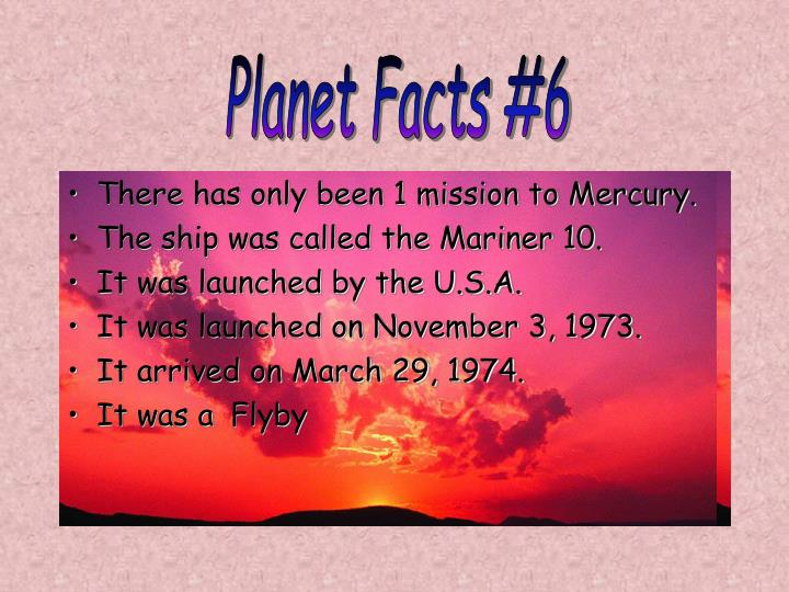 Planet Facts #6