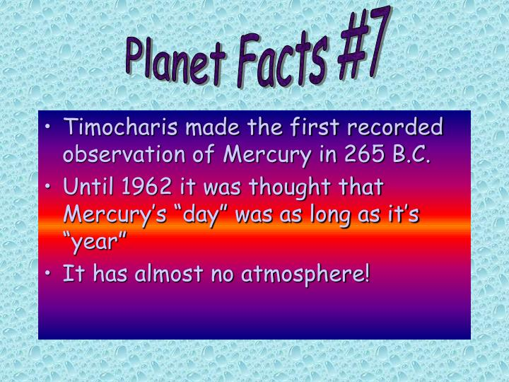 Planet Facts #7