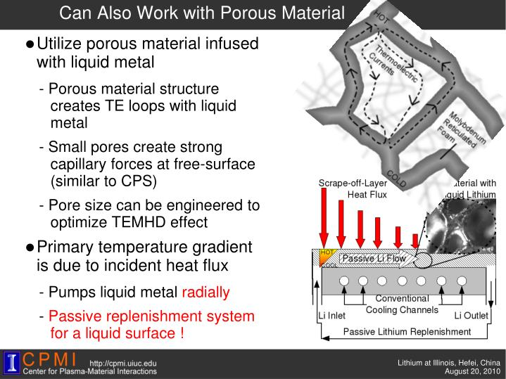 Can Also Work with Porous Material