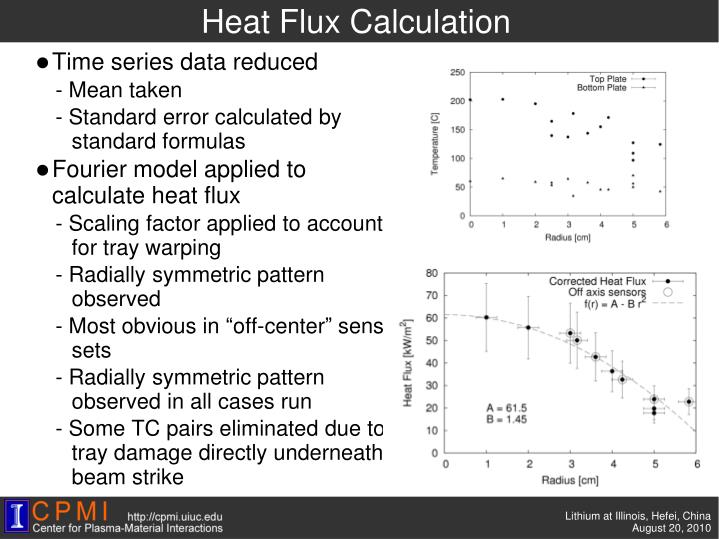 Heat Flux Calculation