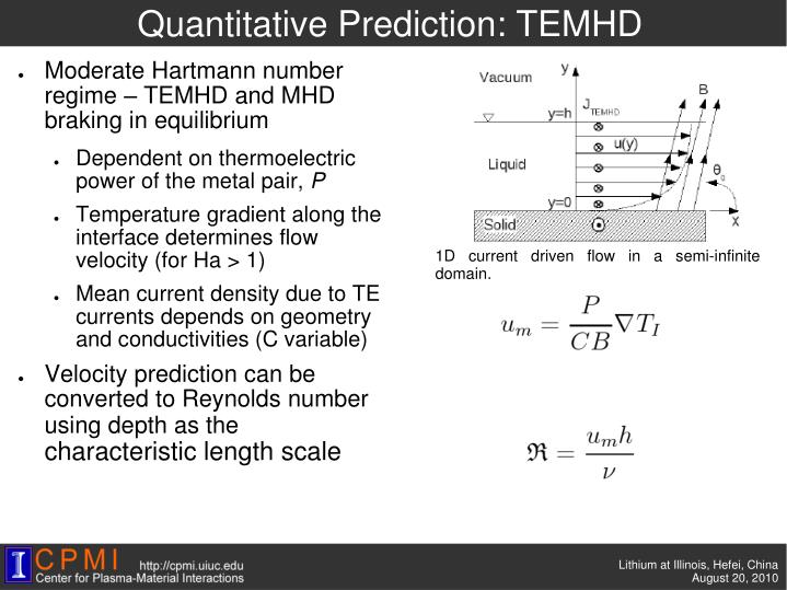 Quantitative Prediction: TEMHD