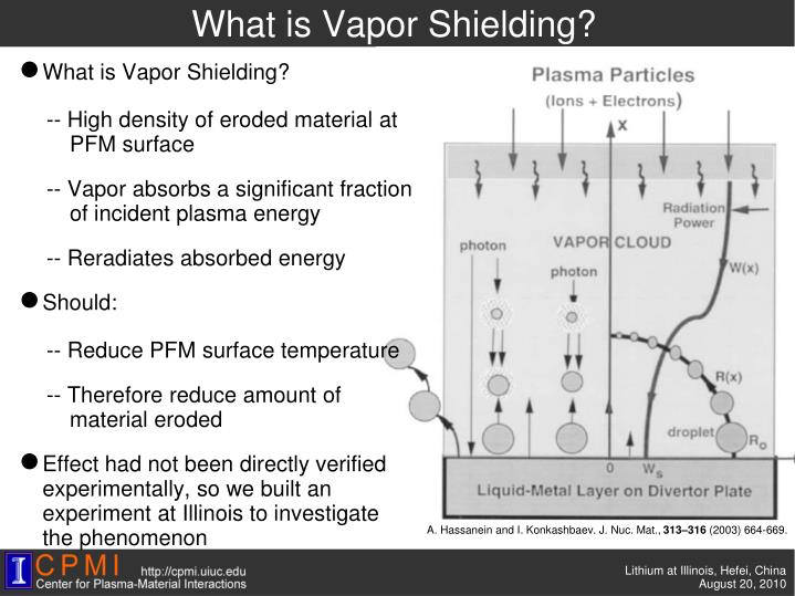 What is Vapor Shielding?