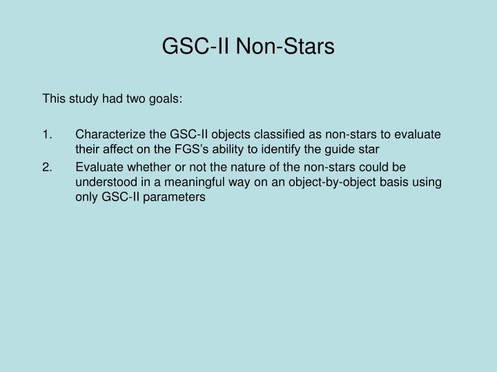 GSC-II Non-Stars