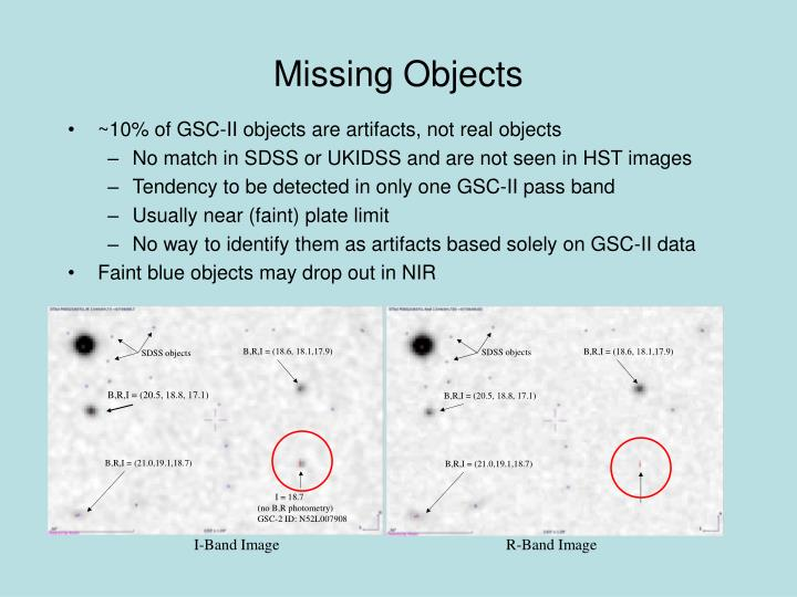 Missing Objects