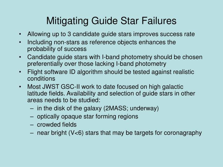 Mitigating Guide Star Failures